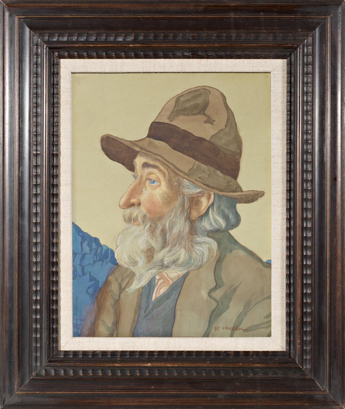 Le vieux valaisan au chapeau