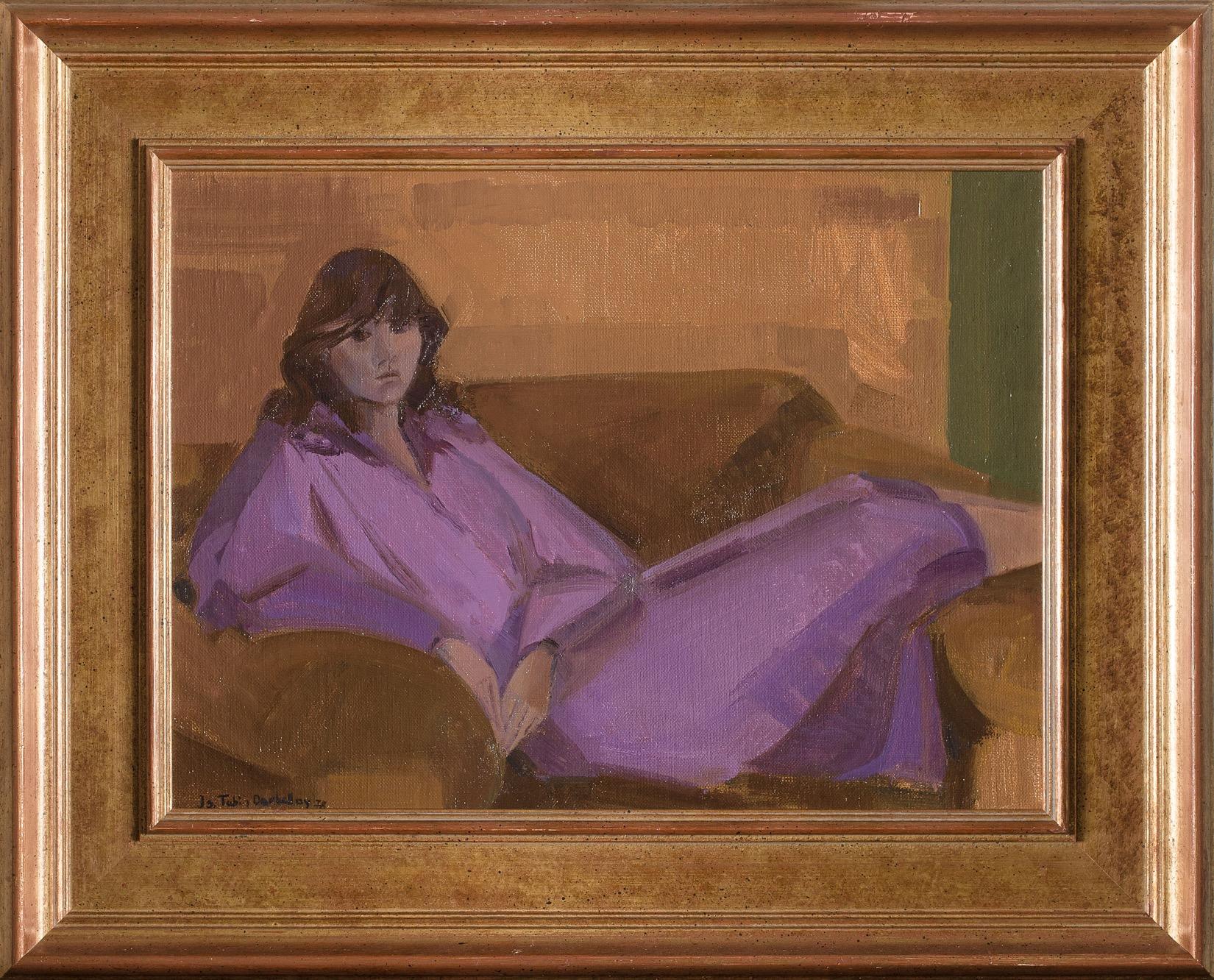 Jeune fille au canapé