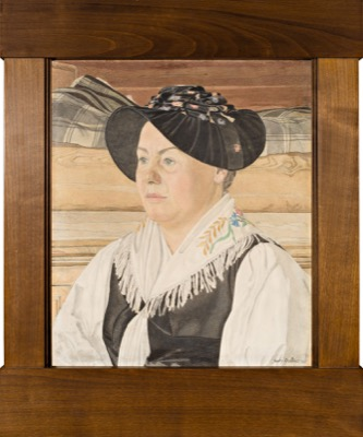 Femme d'Hérémence en costume