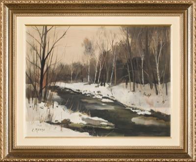 Bord de rivière en hiver